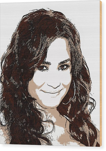 Demi Lovato 2 Wood Print by John Novis