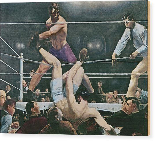 Dempsey V Firpo In New York City Wood Print