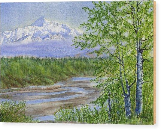 Denali Viewpoint Wood Print