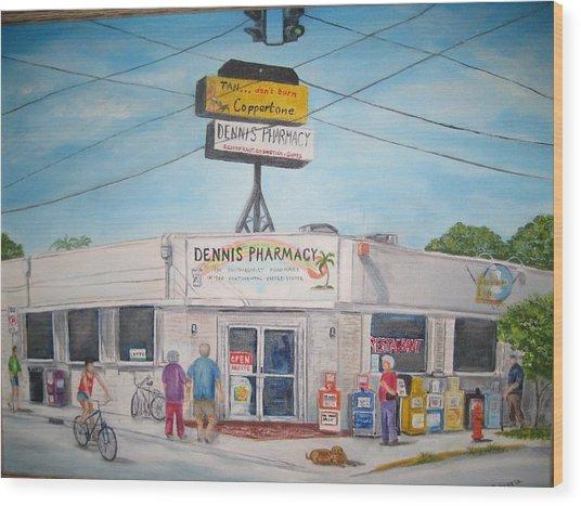Dennis Pharmacy - No More Refills Wood Print