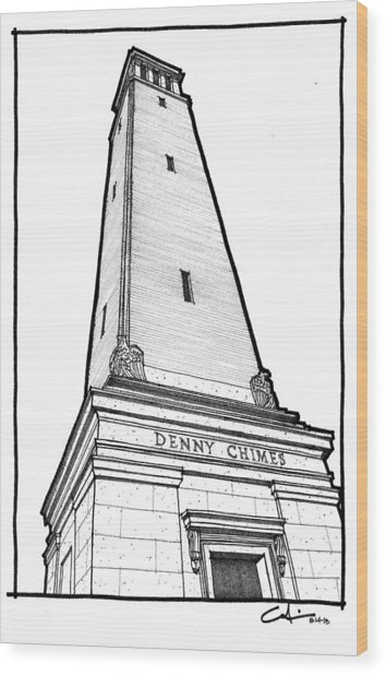 Denny Chimes Wood Print