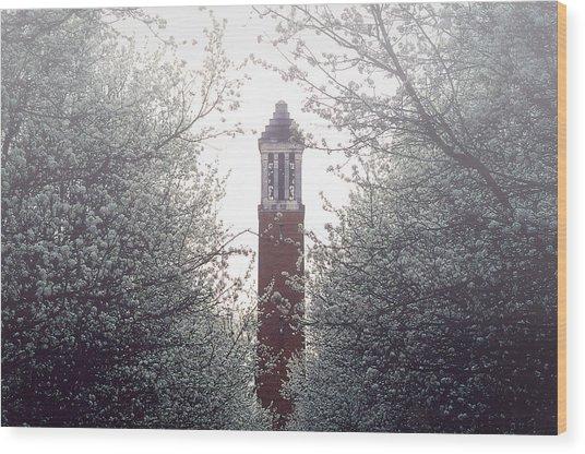 Denny Chimes Foggy Blossoms Wood Print