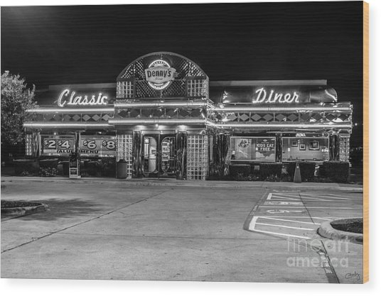 Denny's Classic Diner Wood Print