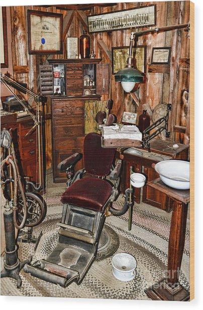 Dentist - The Dentist Chair Wood Print