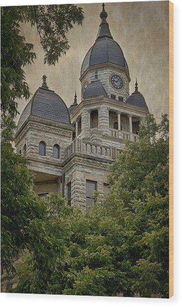 Denton County Courthouse Wood Print