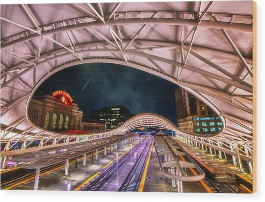 Denver Air Traveler Wood Print