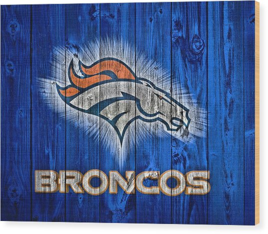Denver Broncos Barn Door Wood Print
