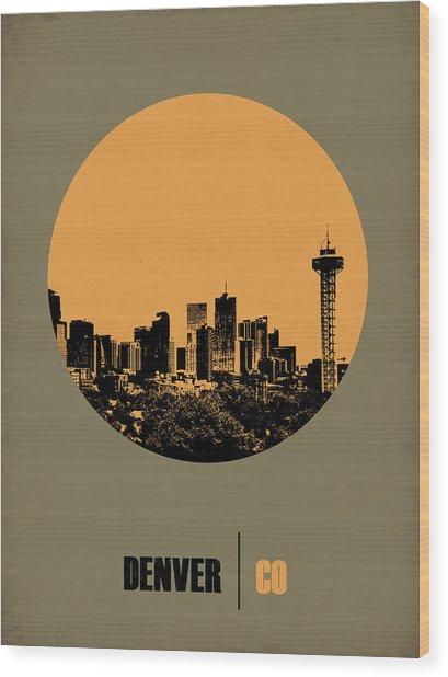 Denver Circle Poster 2 Wood Print
