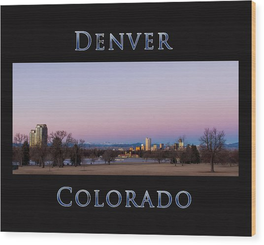 Denver Colorado Sunrise Wood Print