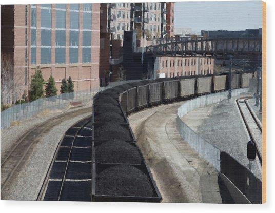 Denver Rail Yard Wood Print
