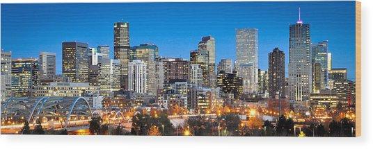 Denver Twilight Wood Print