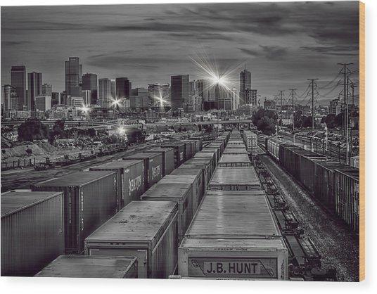 Denver's Underbelly Wood Print