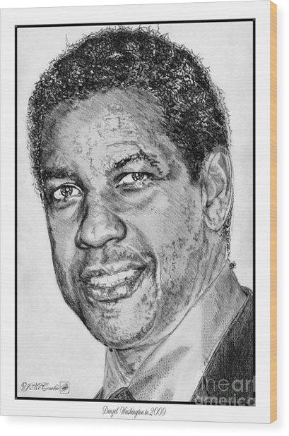 Denzel Washington In 2009 Wood Print