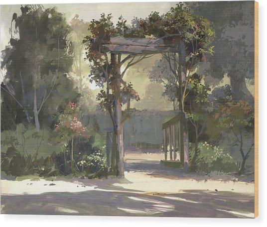 Descanso Gardens Wood Print