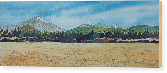 Deschutes River View Wood Print