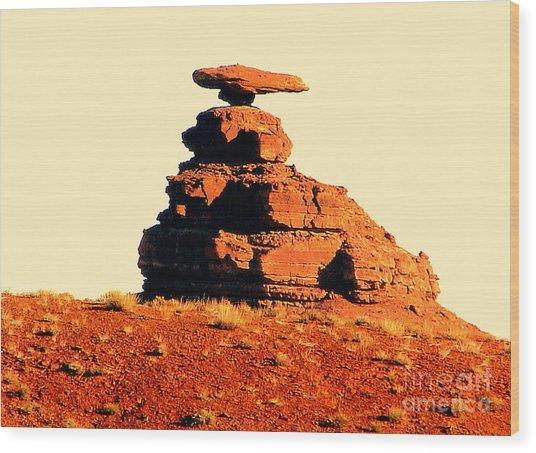 Desert Balance Act Wood Print by John Potts