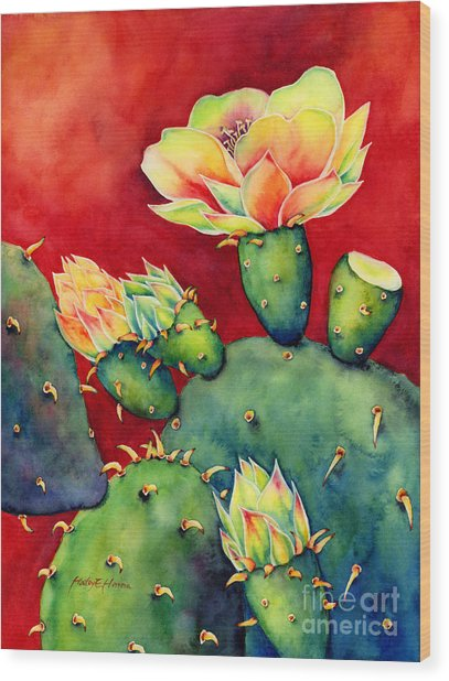 Desert Bloom Wood Print