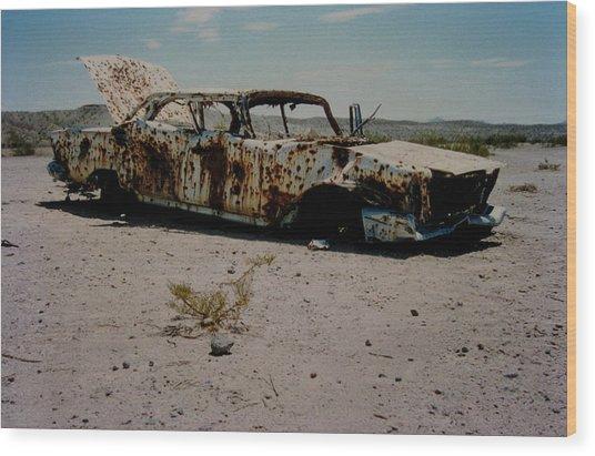 Desert Car Wood Print