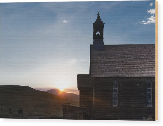 Desert Church  Wood Print