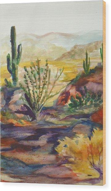 Desert Color Wood Print