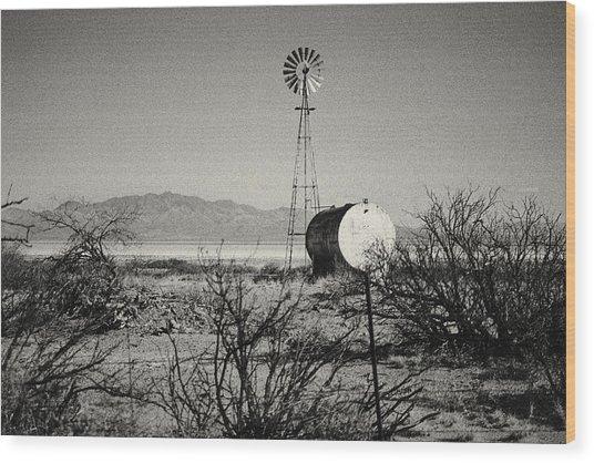 Desert Farm Wood Print