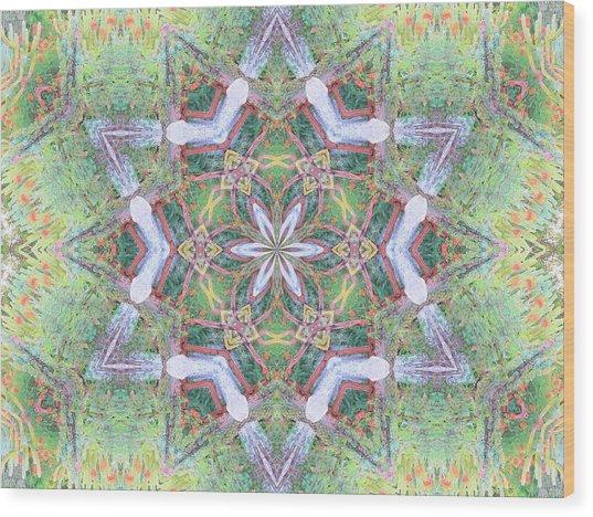 Desert Flower Mandala Wood Print