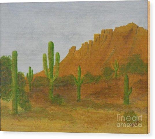 Desert Forest Wood Print