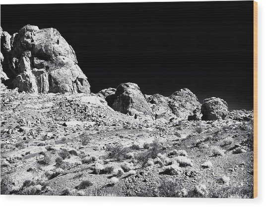 Desert Formation Wood Print by John Rizzuto