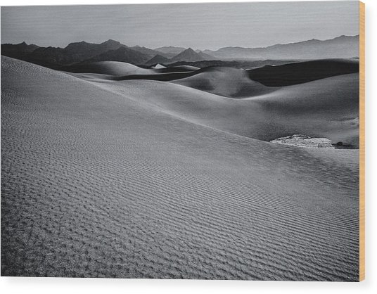 Desert Forms Wood Print