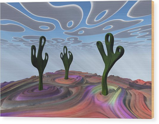 Desert Gathering Wood Print