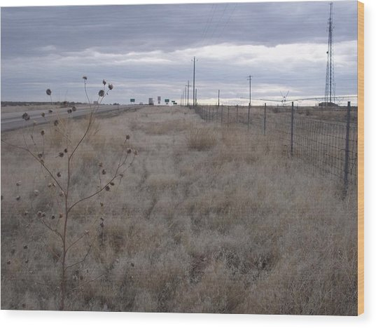 Desert Highway Wood Print by Angela Stout