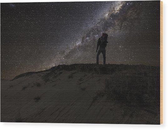 Desert Hiking Wood Print