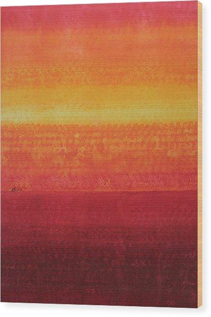 Desert Horizon Original Painting Wood Print