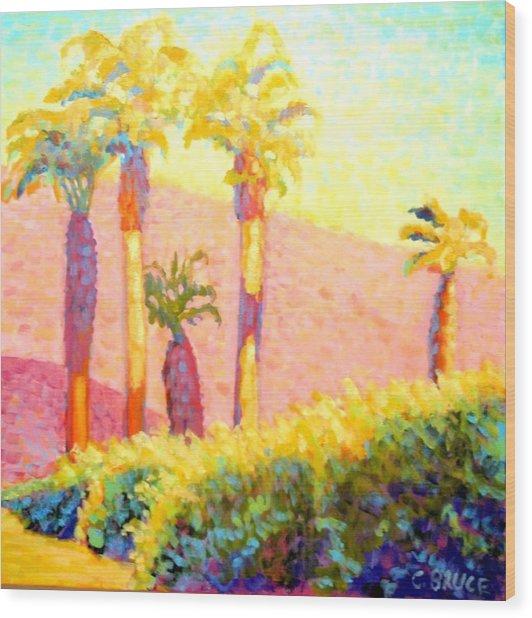 Desert Morning Palms Wood Print by Craig  Bruce