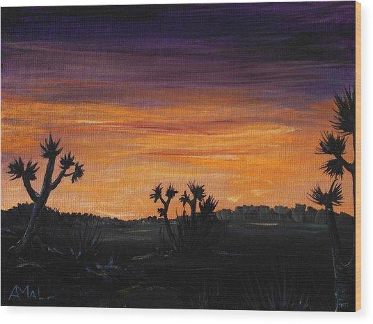 Desert Night Wood Print