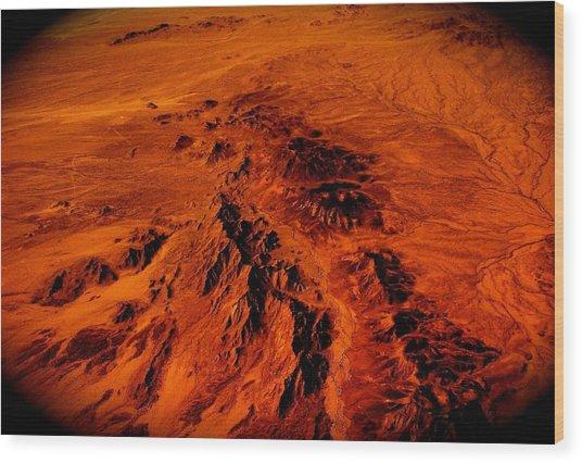 Desert Of Arizona Wood Print