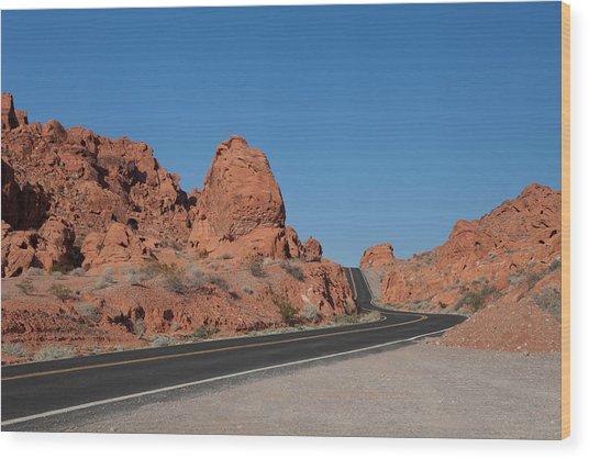 Desert Rock Formations Wood Print