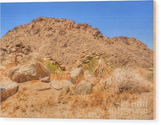 Desert Rocks Wood Print by Deborah Smolinske