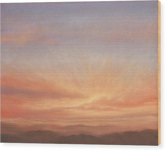 Desert Sky B Wood Print