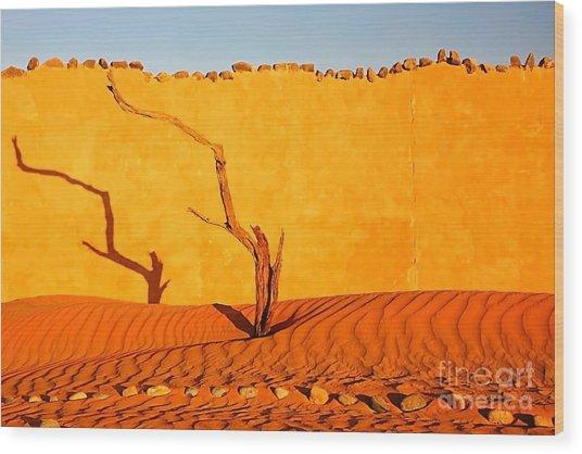 Namibia Desert Still Life Wood Print