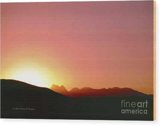 Desert Sunrise Wood Print
