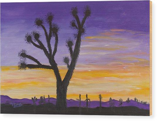 Desert Sunset Wood Print by Margaret Pappas