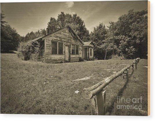 Deserted House Wood Print by Mina Isaac