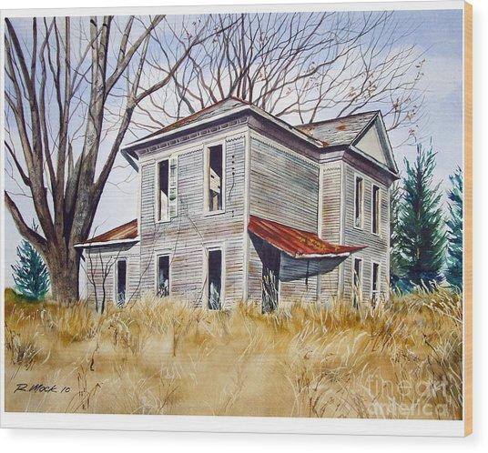 Deserted House  Wood Print by Rick Mock