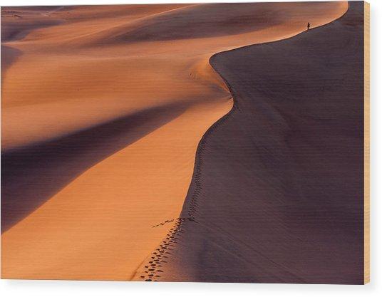 Desertwalk Wood Print