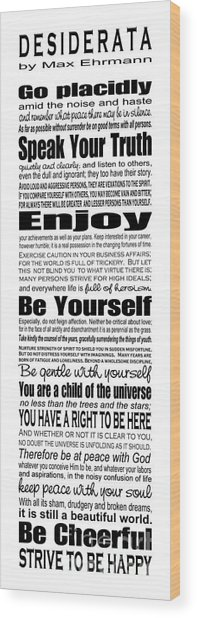 Desiderata - Subway Style Wood Print