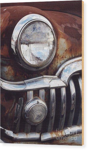 Desoto Headlight Wood Print