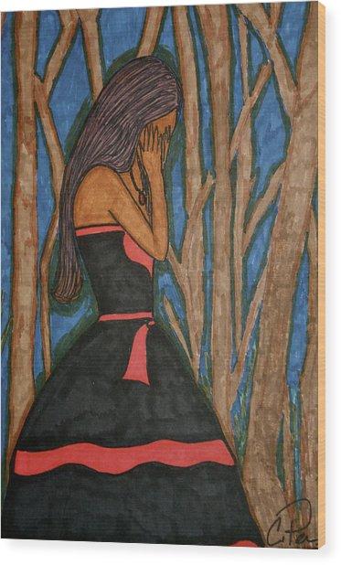 Despair Wood Print