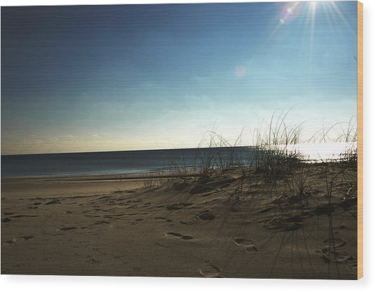 Destin Beach Sun Glare Wood Print