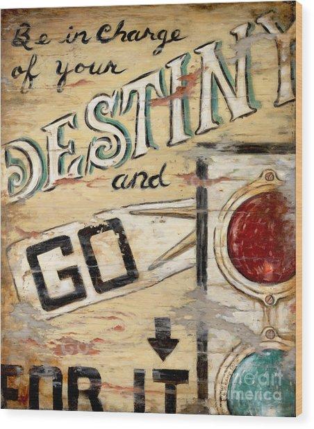 Destiny Wood Print by Janet  Kruskamp
